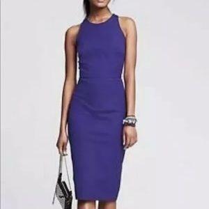 Banana Republic Blue Sheath Style Sloan Dress